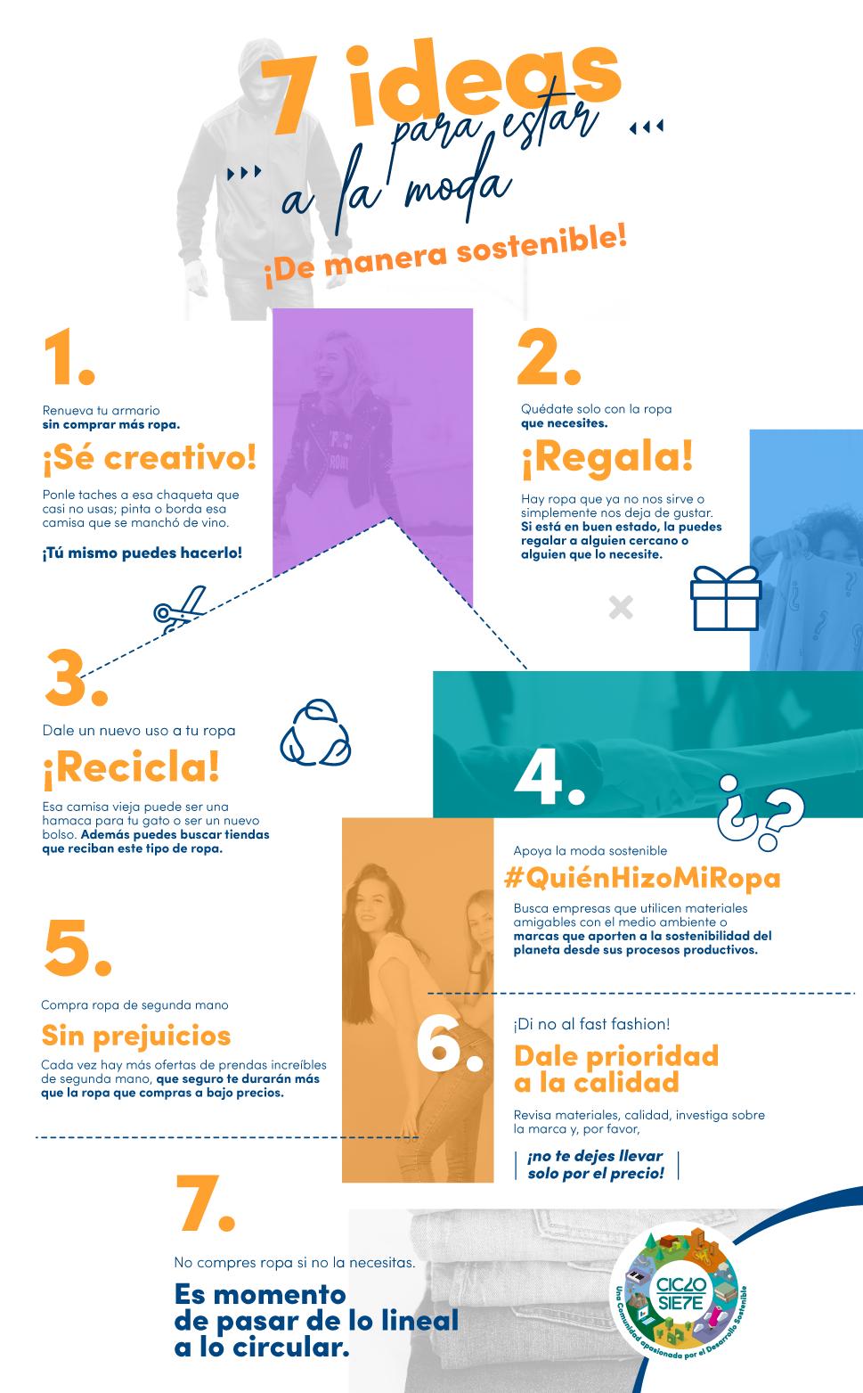7 ideas moda sostenible - Infografia